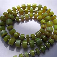 Yellow Opal Tyre Beads Plain