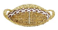 Plastic Oval Shaped Golden Basket
