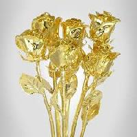 Gold Plated Roses