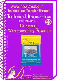 Concrete Waterproofing Powder Making Formulation (ereport)