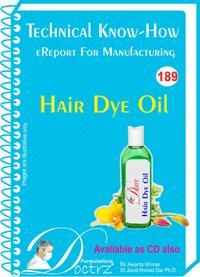 Hair Dye Oil Manufacturing Technology  (tnhr189)