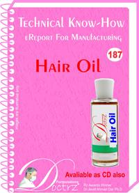 Hair Oil  Manufacturing Technology (tnhr187)