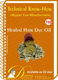 Herbal Hair Dye Oil  Manufacturing Technology (tnhr192)