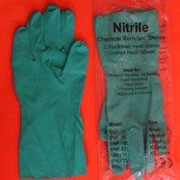 Green Nitrile Hand Gloves