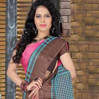 Pink Color Printed Work Casual Saree