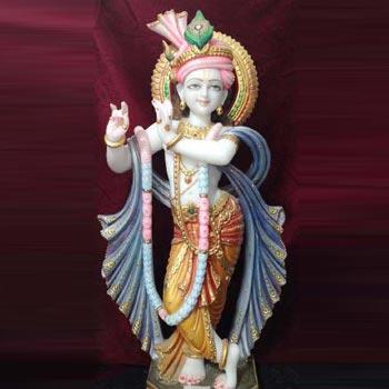 White Marble Krishna Statues
