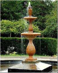 limestone garden fountain