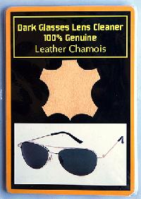Dark Glasses Cleaner Genuine Leather Chamois