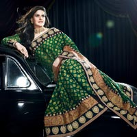 Traditional Embroidered Sarees