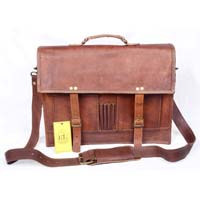 Handmade Real Goat Leather Laptop Bag