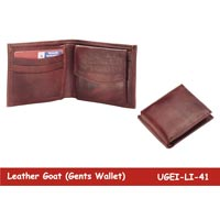 Goat Leather Mens Wallet