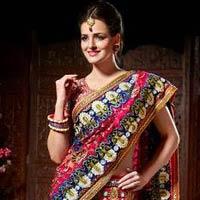 Rani Pink Wedding Sarees, Blue Wedding Sarees