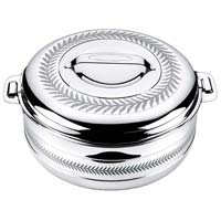 Compact Round Hot Pot - SILVERY