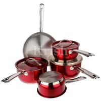 Encapsulated Cherry Cookware Set with Steel Handles