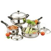 Rajdhani Cookware Set with Steel Handle