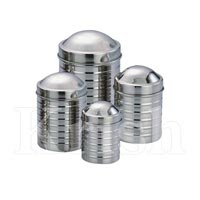 Ribbed Canister with Dome Cover