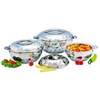 Stainless steel hot pot.