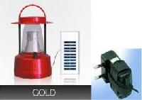 Gold Solar Lamp with Penal