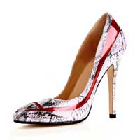 Sexy Snake Print Pu Leather Women's Dress Pumps