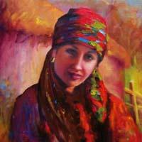 Ethnic Art Oil Paintings