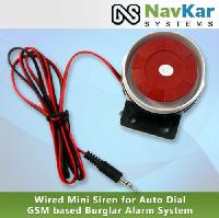 Wired Mini Siren for Auto - Dial GSM Based Burglar Alarm System