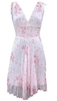 Chiffon Hand Block Printed Dress