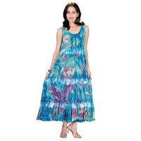 Cotton Hand Block Long Dress