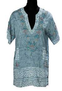 Silk Hand Bandhani Short Sleeve Kurti - Manufacturer, Exporters and Wholesale Suppliers,  Rajasthan - Abhimanyu Exim