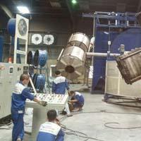 Four Arm Biaxial Rotomoulding Machine
