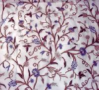Crewel Embroidered Fabric- CF - 04
