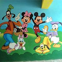 Pre School Wall Painting