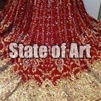 Stone Work Bridal Saree