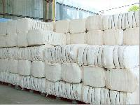 Raw Cotton Bales. Indian Yellow Maize