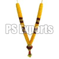 Yellow and Red Jasmine Flower Garland