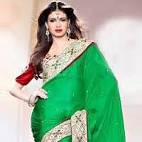 Kundan Work Silk Saree