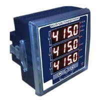 Three Phase Avf Meter With Run Hour And Rpm