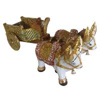 Handicrafts Wooden Bullock Cart For Gift