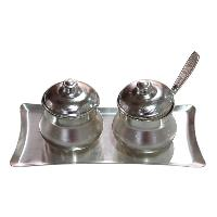 Silver Finish Plated Mukhwas Dryfruit Mouth Freshner Set