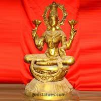 Brass Laxmi Mata Statue