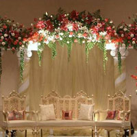 Flower Decoration And Light And Decor