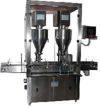 Automatic Two Head Auger Type Dry Syrup Powder Filling..