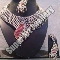American Diamond Bridal Necklace Set