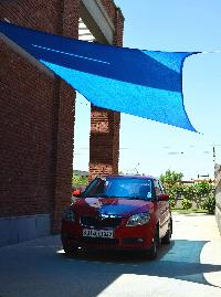 Car Parking Sun Shade Sail - Retail Packaging - Ropes..