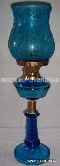 Blue Color Oil Lamp