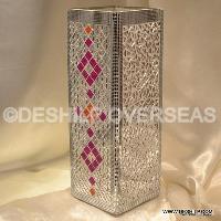 Mosaic Glass Flowers Vases