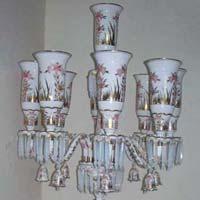 Opal Glass Oil Lamp