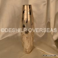 Silver Glass Flower Vase