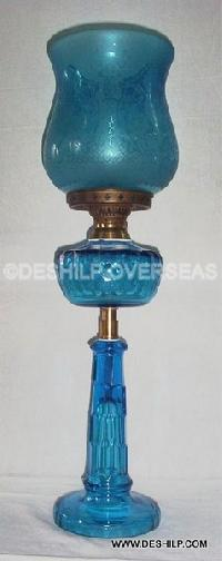 Sky Blue Oil Lamp
