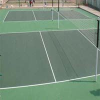 Badminton Court Synthetic Flooring Surface Installation Services