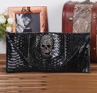 Women Clutch Skull Pu Leather Handbag